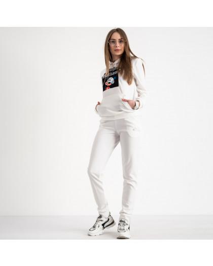 7625-1 белый женский спортивный костюм (5 ед. размеры: S.M.L.XL.2XL) Спортивный костюм