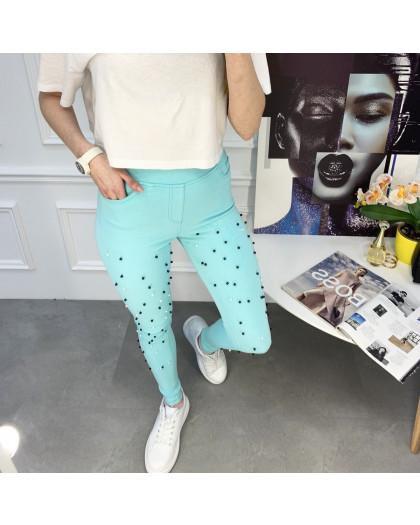 8056-9 Yimeite бирюзовые брюки женские стрейчевые (6 ед. размеры: 25/2.26.27.28.29) Yimeite