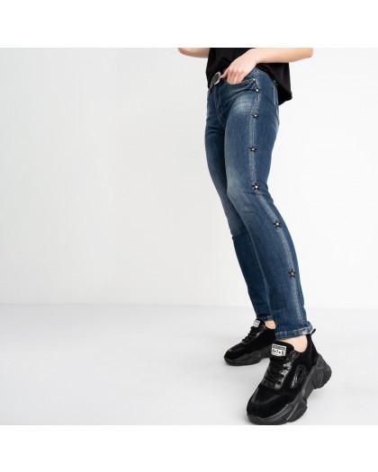 1239 Lady N джинсы полубатальные женские синие стрейчевые (6 ед. размеры: 28.29.30.31.32.33) Lady N