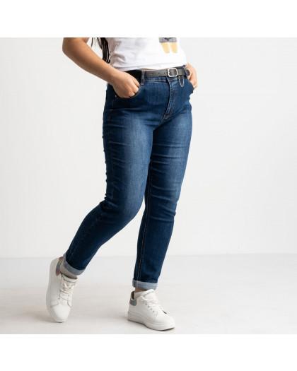 3118 KT.Moss джинсы женские батальные синие стрейчевые (6 ед. размеры: 30.31.32.33.34.36) KT.Moss