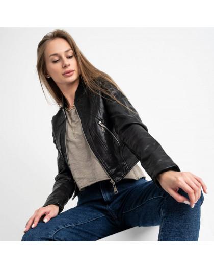 0373 куртка женская укороченная из кожзама (5 ед. размеры: S.M.L.XL.XXL) Куртка