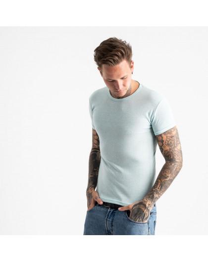 2600-8 светло-голубая футболка мужская (4 ед. размеры: M.L.XL.2XL) Футболка