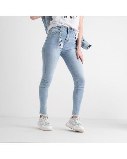 0662 New Jeans американка голубая стрейчевая  (6 ед. размеры: 25.26.27.28.29.30) New Jeans