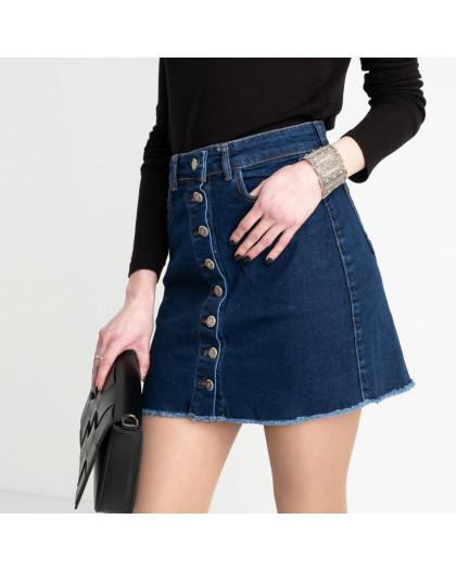 0590-Pusl Arox юбка джинсовая на пуговицах синяя  стрейчевая (4 ед. размеры: 34.36.38.40) Arox