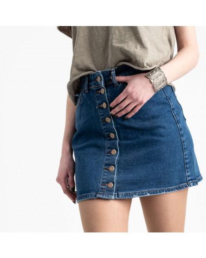 0590-Etek Arox юбка джинсовая на пуговицах темно-синяя стрейчевая (4 ед. размеры: 34.36.38.40) Arox