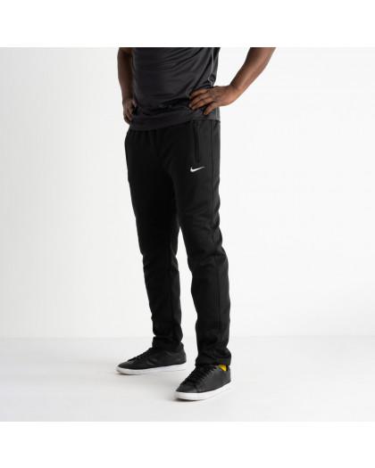 16404-1 черные батальные спортивные брюки из двунитки (4 ед. размеры: 56.58.60.62) Спортивные штаны
