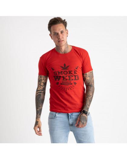 2613-3 красная футболка мужская с принтом (4 ед. размеры: M.L.XL.2XL) Футболка