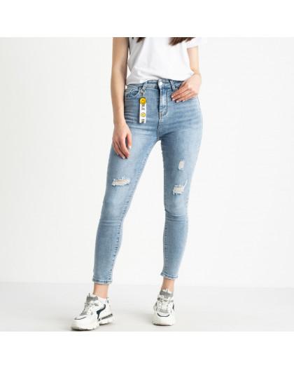 0693  New Jeans американка полубатальная голубая стрейчевая (6 ед. размеры: 28.29.30.31.32.33) New Jeans