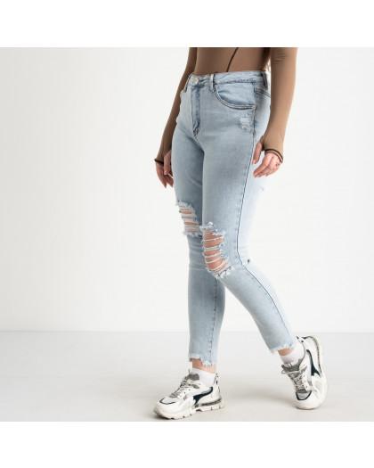 0505-1 Monkey Ride Jeans американка полубатальная голубая стрейчевая ( 6 ед. размеры: 27.28.29.30.31.32) Monkey Ride