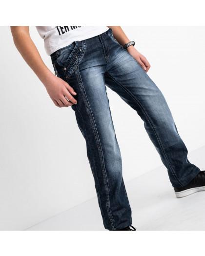 3203-2 Vigoocc подростковые джинсы на мальчика синие коттоновые (7 ед. размеры: 24.25.26.27.28.29.30) Vigoocc