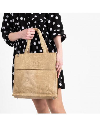 091127 бежевая сумка женская из эко кожи(5 ед.) Сумка