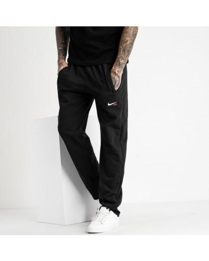 16401-5 черные спортивные брюки из двунитки (5 ед. размеры: 46.48.50.52.54) Спортивные штаны