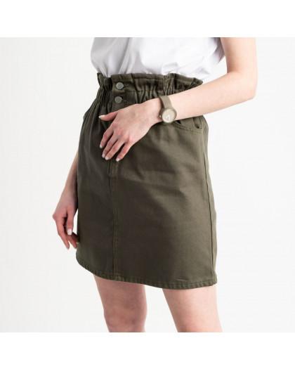 0200-7 Defile хаки юбка на пуговицах котоновая (6 ед. размеры: 34.36.38.38.38.40) Defile