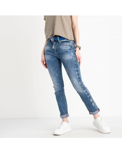 8202 Vanver джинсы женские голубые стрейчевые ( 6 ед. размеры: 25.26.27.28.29.30) Vanver