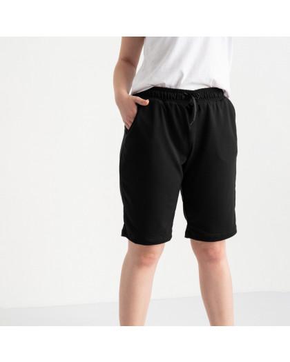 2230-1 Mishely шорты черные женские батальные из двунитки ( 4 ед. размеры: 50.52.54.56) Mishely