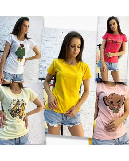 2701-99 футболка женская микс 5-ти моделей и цветов без выбора цветов (20 ед. размеры:S.M.L.XL) МИКС