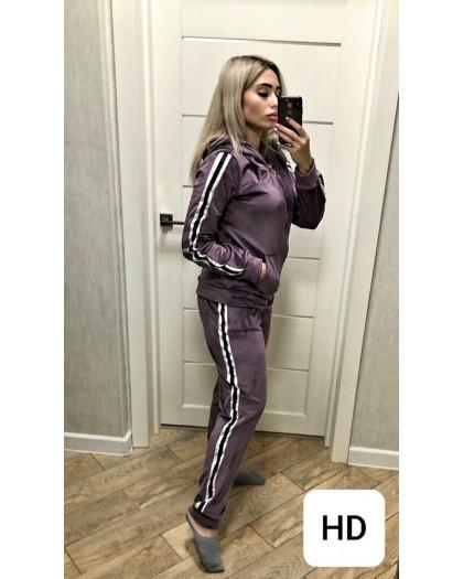 0058 баклажан женский спортивный костюм (42-50, 5 ед.) Костюм