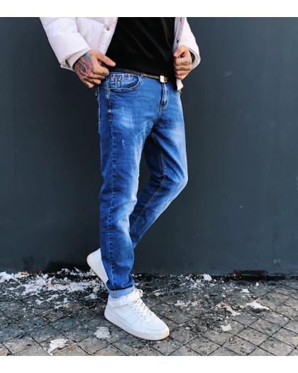 8024 Resalsa джинсы мужские молодежные с царапками весенние стрейчевые (27-2,28-2,30,33, 6 ед.) Resalsa