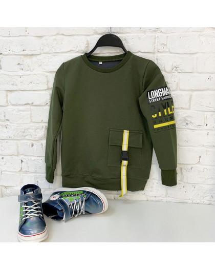0146-1 зеленый подростковый батник от 8 до 12 лет (5 ед. размеры: 128,134, 140,146,152) Батник