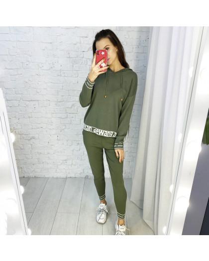 2101-1 M.K.Store зеленый спортивный костюм женский (3 ед.размеры: универсал 44-48) M.K.Store