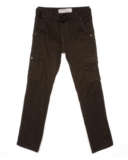 1672-4 Iteno брюки мужские карго хаки весенние стрейч-котон (30-38, 6/12 ед.) Iteno