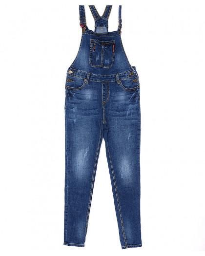 A 0321-8 Relucky комбинезон джинсовый женский с царапками весенний стрейчевый (25-30, 6 ед.) Relucky
