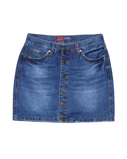 A 0028-12 Relucky юбка джинсовая на пуговицах весенняя котоновая (25-30, 6 ед.) Relucky