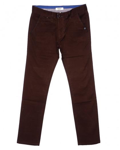 0672-31 Disvocas брюки мужские батальные коричневые весенние стрейчевые (32-36, 8 ед.) Disvocas