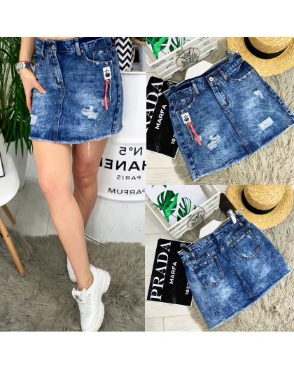 7035 New jeans юбка джинсовая с рванкой котоновая (25-30, 6 ед.) New Jeans