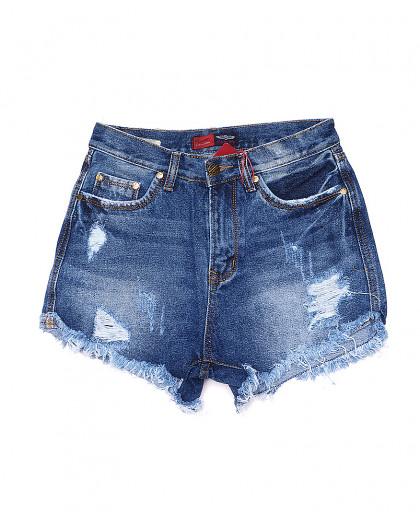 A 0056-15 Relucky шорты джинсовые женские с рванкой и царапками котоновые (25-30, 6 ед.) Relucky