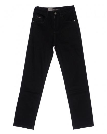 120225 LS джинсы мужские классические черные осенние стрейч-котон (29-38, 8 ед.) LS