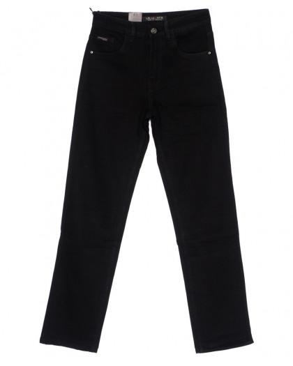 120228 LS джинсы мужские классические черные осенние стрейч-котон (29-38, 8 ед.) LS