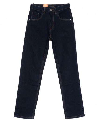 120211 LS джинсы мужские классические темно-синие осенние стрейч-котон (30-38, 8 ед.) LS