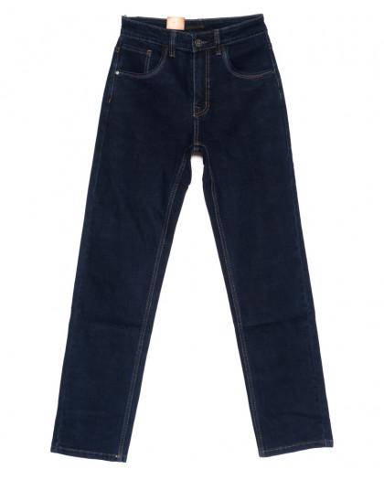 120209 LS джинсы мужские классические темно-синие осенние стрейчевые (30-38, 8 ед.) LS