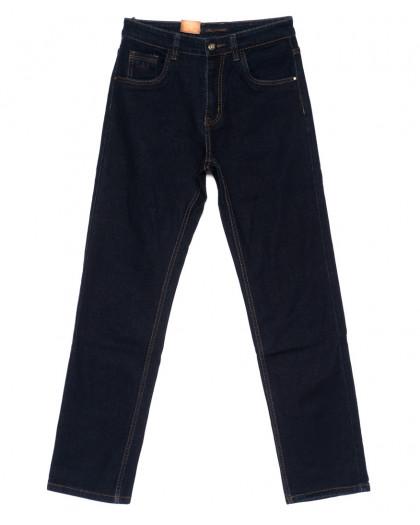 120208 LS джинсы мужские классические темно-синие осенние стрейчевые (30-38, 8 ед.) LS