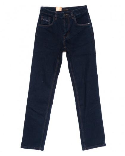 120206 LS джинсы мужские классические темно-синие осенние стрейчевые (30-38, 8 ед.) LS