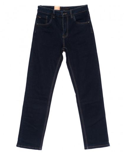 120207 LS джинсы мужские классические темно-синие осенние стрейчевые (30-38, 8 ед.) LS