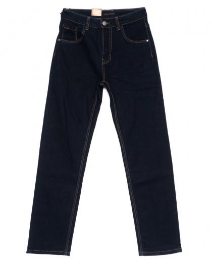 120205 LS джинсы мужские классические темно-синие осенние стрейчевые (30-38, 8 ед.) LS