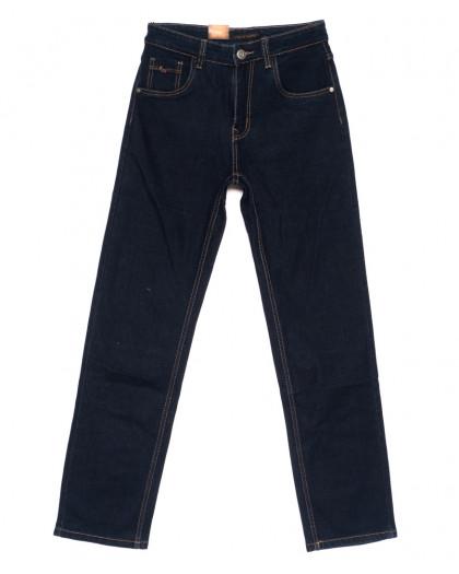 120210 LS джинсы мужские классические темно-синие осенние стрейчевые (30-38, 8 ед.) LS