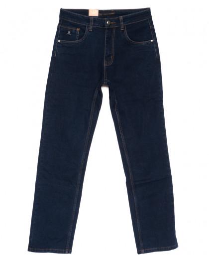 120215 LS джинсы мужские батальные классические темно-синие осенние стрейчевые (32-38, 8 ед.) LS