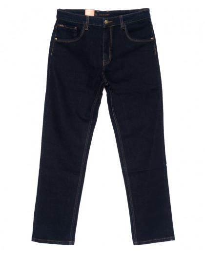 120220-D LS джинсы мужские батальные классические темно-синие осенние стрейчевые (34-42, 8 ед.) LS