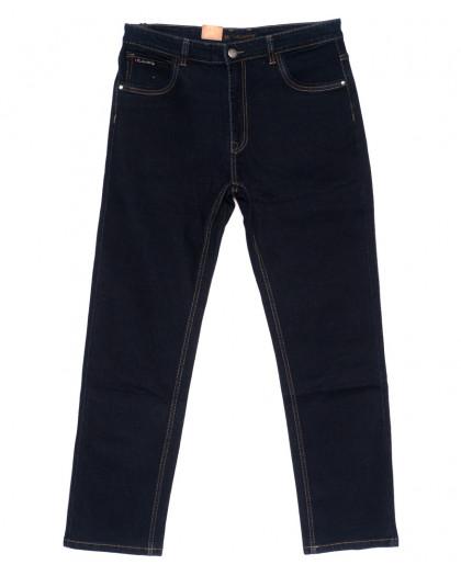 120218-D LS джинсы мужские батальные классические темно-синие осенние стрейчевые (34-42, 8 ед.) LS