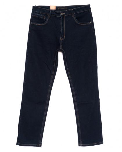 120219-D LS джинсы мужские батальные классические темно-синие осенние стрейчевые (34-42, 8 ед.) LS