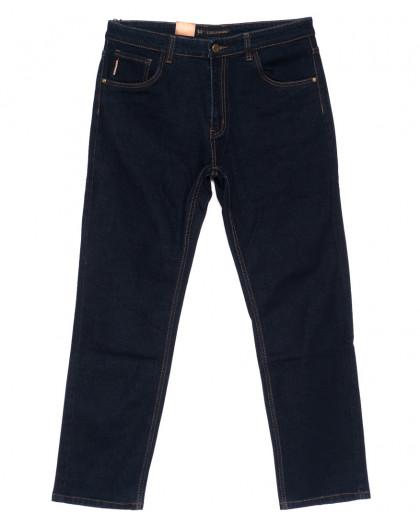 120217-D LS джинсы мужские батальные классические темно-синие осенние стрейчевые (34-42, 8 ед.) LS