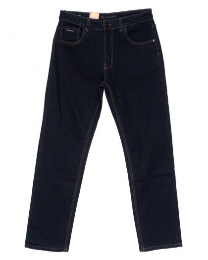 120221-D LS джинсы мужские батальные классические темно-синие осенние стрейчевые (34-42, 8 ед.) LS