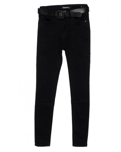 81253 Vanver джинсы женские черные зауженные осенние стрейчевые (25-30, 6 ед.) Vanver