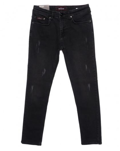 0302 Red Moon джинсы мужские с царапками зауженные осенние стрейчевые (29-36, 7 ед.) Red Moon
