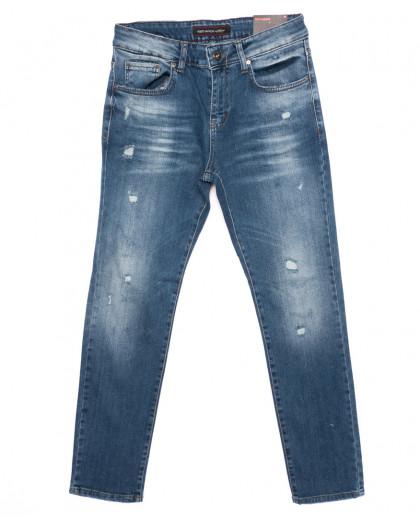 0466 Red Moon джинсы мужские с царапками зауженные осенние стрейчевые (29-36, 7 ед.) Red Moon