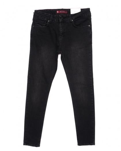 0468 Red Moon джинсы мужские черные зауженные осенние стрейчевые (29-36, 7 ед.) Red Moon