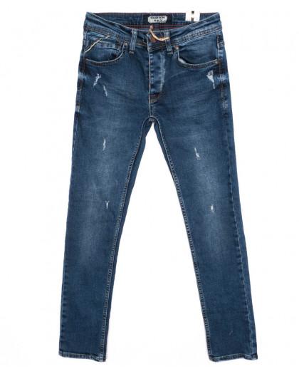 5955 Fashion Red джинсы мужские с рванкой синие осенние стрейчевые (29-36, 8 ед.) Fashion Red